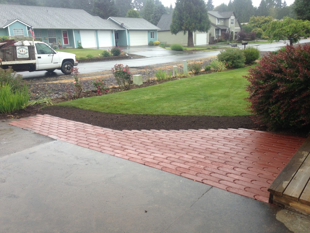 Edger Stone as front landing and walkway