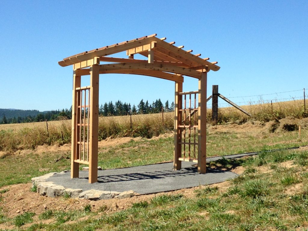 Cedar Pergola for bench swing